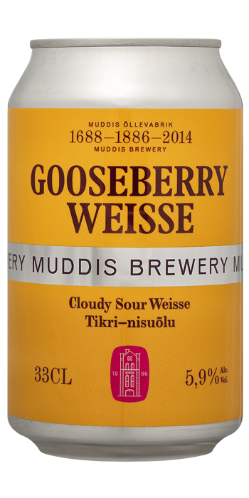 MUDDIS Gooseberry Weisse 24x33cl